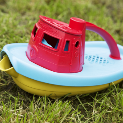 Green Toys Tugboat red top