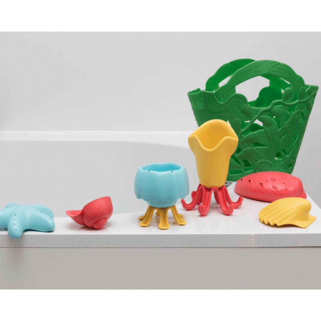 Green Toys 7-delige badset in gerecycleerd plastic