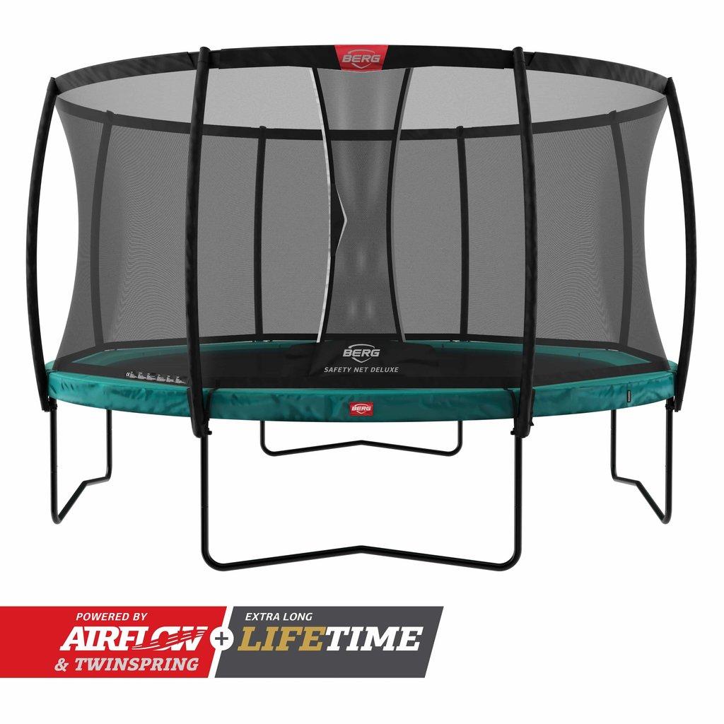 BERG trampolines Trampoline Champion 430 groen + safety net de luxe