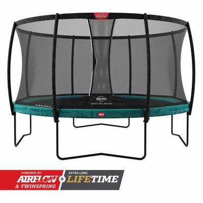 BERG trampolines Trampoline Champion 430 vert + filet de sécurité de luxe
