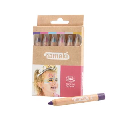 Namaki Kit de 6 crayons de maquillage Mondes enchantés