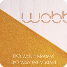 Wobbel Wobbel original blank gelakt met vilt mosterd
