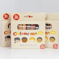 Colour Me Kids Colour Me crayons – huidskleur krijtjes  (3x12st)