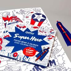 OMY Kleurposter Superhero