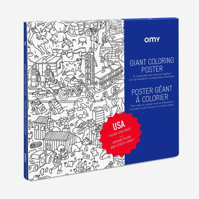 OMY Colouring poster USA