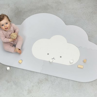 Quut Playmat head in the cloud pearl grey small