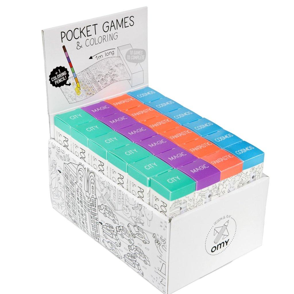 OMY Pocket kleurplaten (24st)