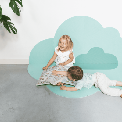 Quut Playmat head in the cloud minty green large