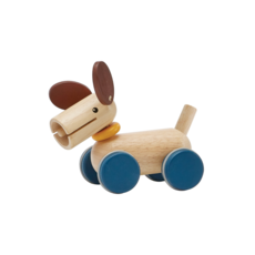 Plan Toys Trek- en duwhondje