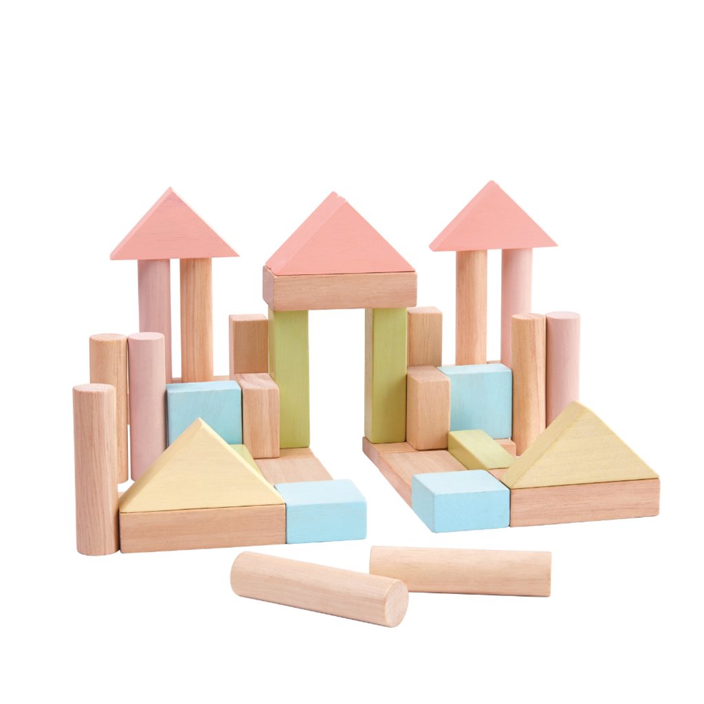 Plan Toys Building blocks pastel (40pcs)