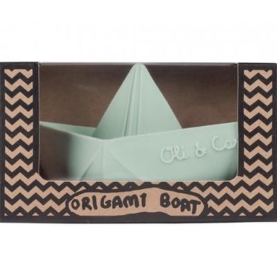 Oli & Carol Origamibootje natuurrubber munt