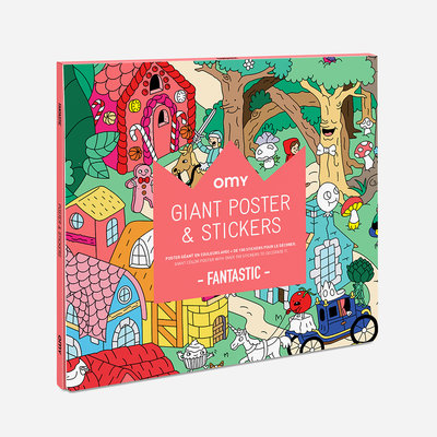 OMY Colouring poster Fantastic with stickers