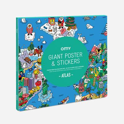 OMY Kleurposter Atlas met stickers
