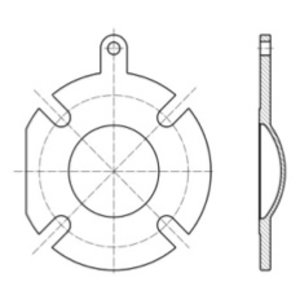 Blind Flange for Top Discharge Butterfly Valve