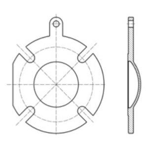 Brida ciega para válvula de mariposa de descarga superior