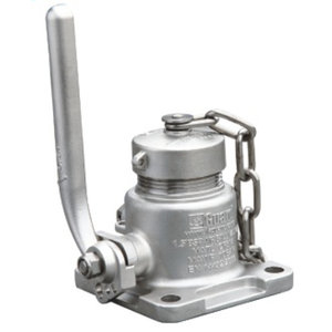 """Robinet à boisseau sphérique à entrée d'air de 1,5"""", acier inoxydable 316L"""