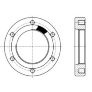"""Bride à souder pour soupape de sûreté BSP de 65 mm / 2,5"""""""