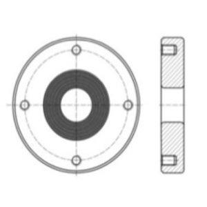 """Inlasflens voor 1,5"""" luchtinlaatkogelklep, RVS 316L"""