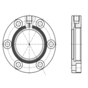 "Adapterflens voor 65 mm (2,5"") BSP veiligheidklep, RVS 316L"
