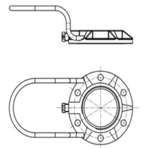 """Adaptor Flange Assembly for 2,5"""" BSP Safety Relief Valve"""