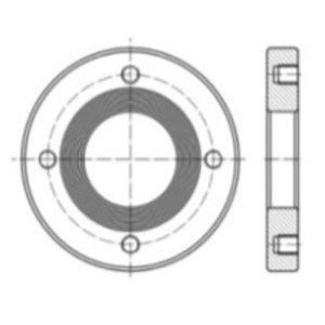 """Brida soldable para válvula de alivio de seguridad con brida de 2,5""""/ 3"""""""