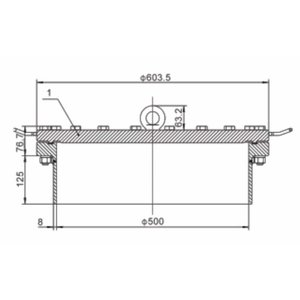 500 mm FBM Manlid Assembly SS 316L 20 points