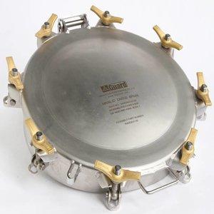 Collier de trou d'homme profond, 500 mm, 8 points