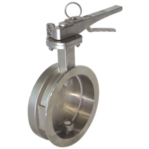 "4"" Clamped Butterfly Valve, left open"