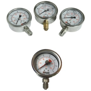 """Manometer, 0-40 bar (0-600PSI), 1/4"""" BSP"""