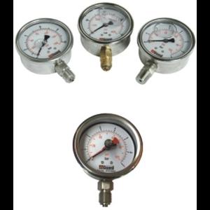 """Calibrador de presión, 0-7 bar (0-100PSI), 1/4"""""""