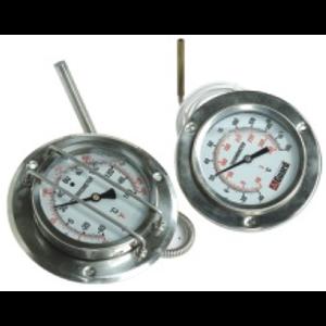 "Indicador de temperatura con capilar de 2000 mm, DN100 / 4"""