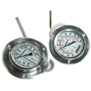 Temperature Gauge with 2000mm Capillary, DN100 / 4""