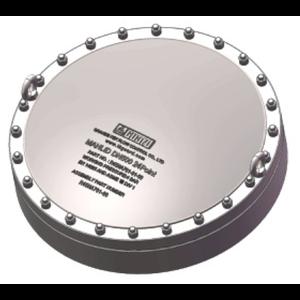 Ensemble de trou d'homme FBM en dôme de 500 mm, acier inoxydable 316L, 24 points