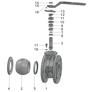 """Junta tórica para válvula de bola de diámetro total de 3"""""""