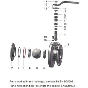 "Enchufe para válvula de bola de diámetro total de 2-3"""