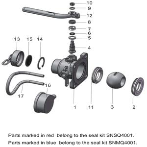 """Husillo - Válvula de bola de entrada de aire de 1,5"""" QKB04001-00"""