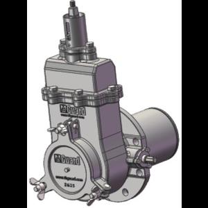 Válvula de compuerta de betún DN 125 en acero al carbono PCD=200