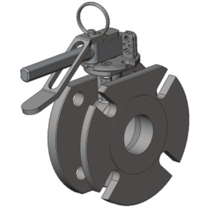 """2"""" Flanged Air Inlet Butterfly Valve SS 316 PTFE seal"""