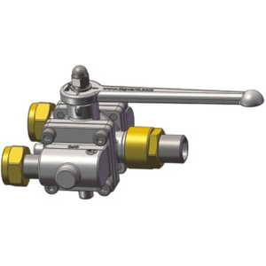 T75 3-Way Ball Valve in SS 304