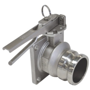 """3"""" Unify Butterfly Valve with 3"""" DC Cam Lock outlet"""