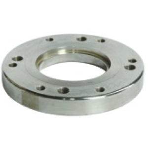 Weld-in flange for top discharge