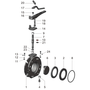 """3"""" Flanged Butterfly Valve"""