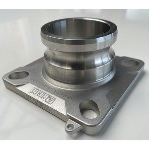 DN80 Cam-lock uitlaatflens - onder lossing