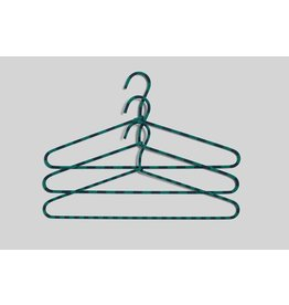 kleerhangers Cord Hanger / Stripe / Green / Set of 3