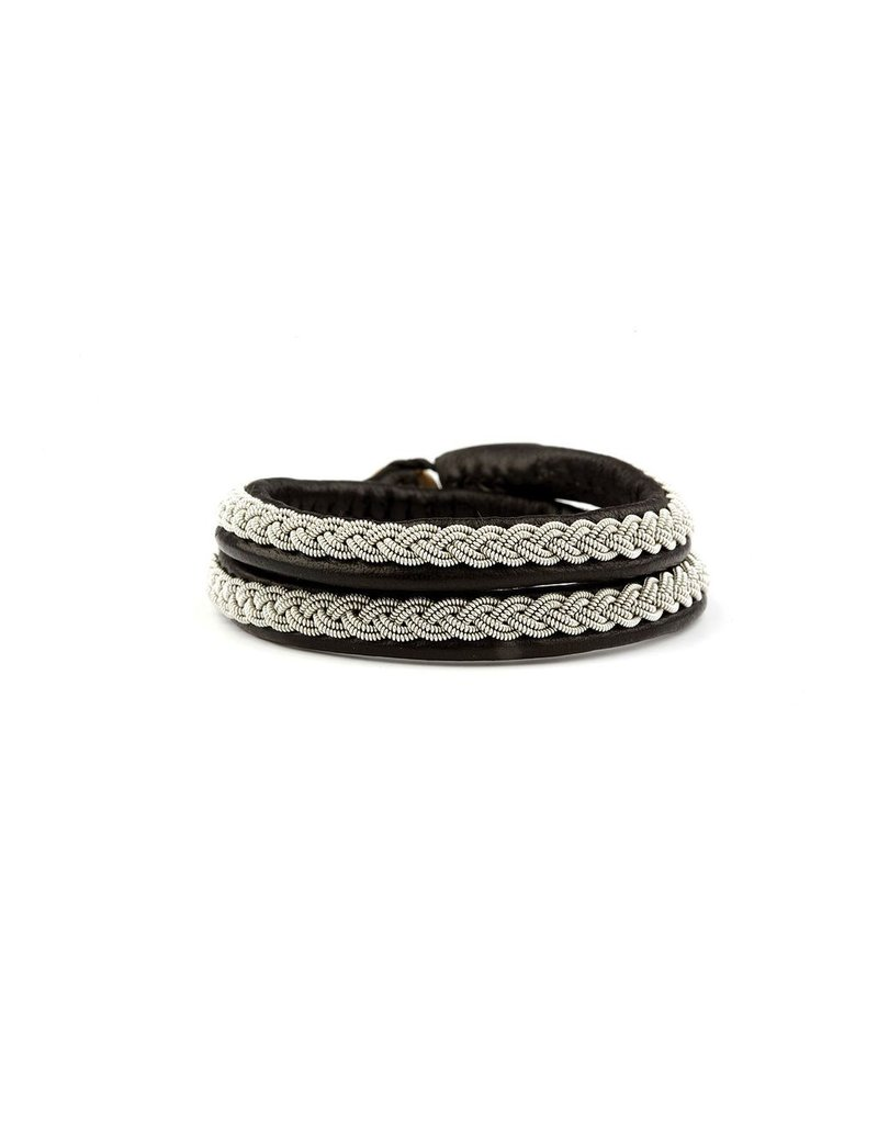 Juwelen CLASSIC DOUBLE BLACK LEATHER S37