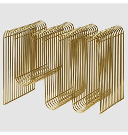 Gadgets Curva Magazine Holder Gold