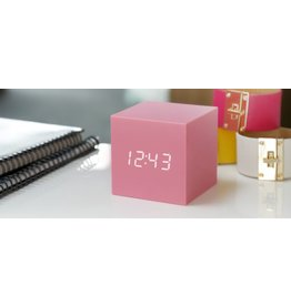 Wekkers GRAVITY CUBE CLICK CLOCK PINK