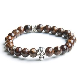 Juwelen GEMINI 8MM SKULL BROWN M