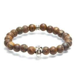 Juwelen GEMINI SKULLY 8MM MAT BROWN S