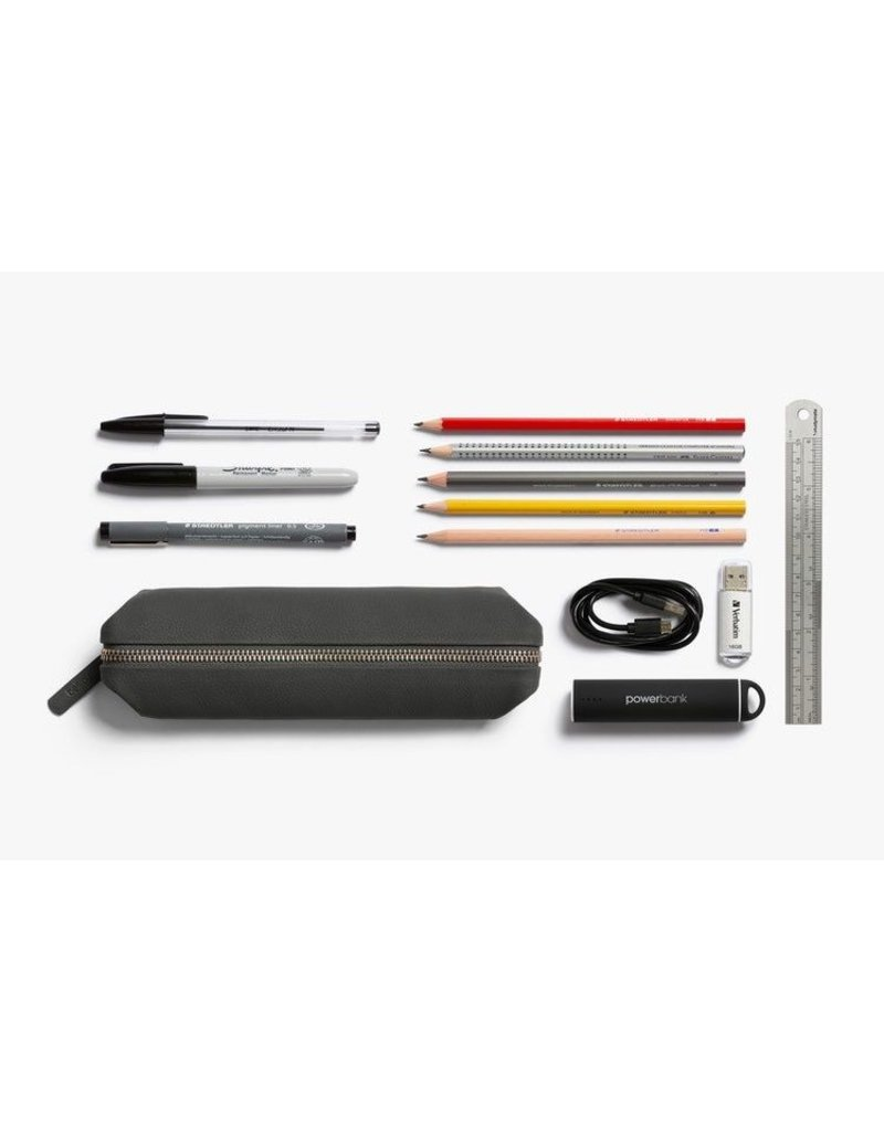 Gadgets PENCIL CASE LEATHER CHARCOAL